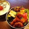 <番外編 弟(中1)のお弁当との比較>◆ロースとんかつ弁当 3/23の画像