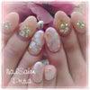 FlowerArt♡と私のネイル…の画像