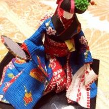 和紙の日本人形
