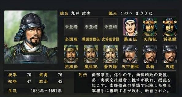 九戸政実 (くのへ まさざね) |...