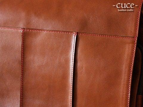 cc7ea74acee8 栃木レザーの2Way横型リュック | cuceの革モノづくり