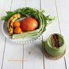 りんごとバナナ、水菜と金柑のグリーンスムージー。に、ビーポレンとクコの実とゴマをぱらり。の画像