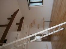 丸太梁を表した天井