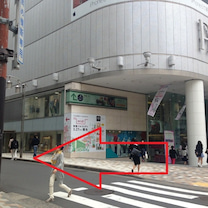 千里眼 栄本店 行き方案内「大津通PARCO方面から」の記事に添付されている画像