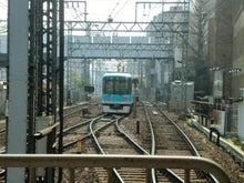 京津線は引き上げ線で折り返し運転