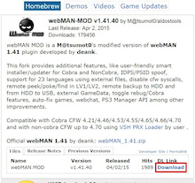 Download latest webman mod | webMAN v1 30 Vanilla And 1 30