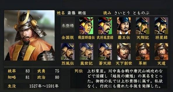 「斉藤朝信」の画像検索結果