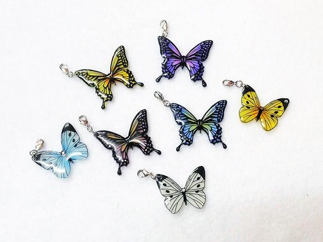 蝶々ストラップ