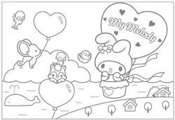 塗り絵 無料 キャラクター サンリオ マイメロディ まとめ キャラクター