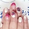 4月のネイルはピンクのお花で優しくの画像