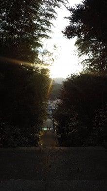 三ヶ所神社から太陽の沈むところ