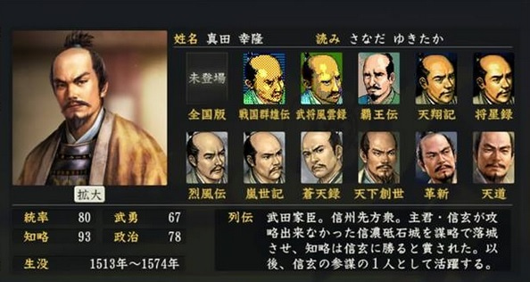 「真田幸隆」の画像検索結果