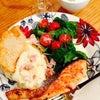 Today's dinner! サーモンとマッシュポテト!の画像