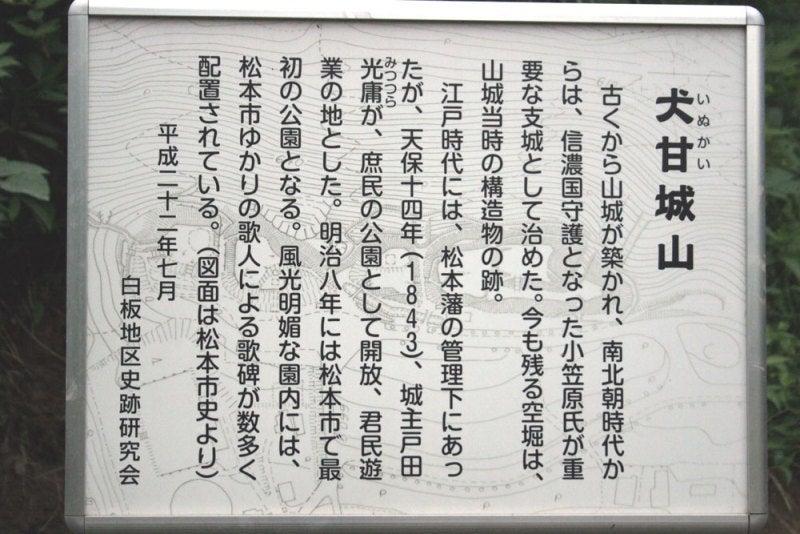 犬甘城/③説明板