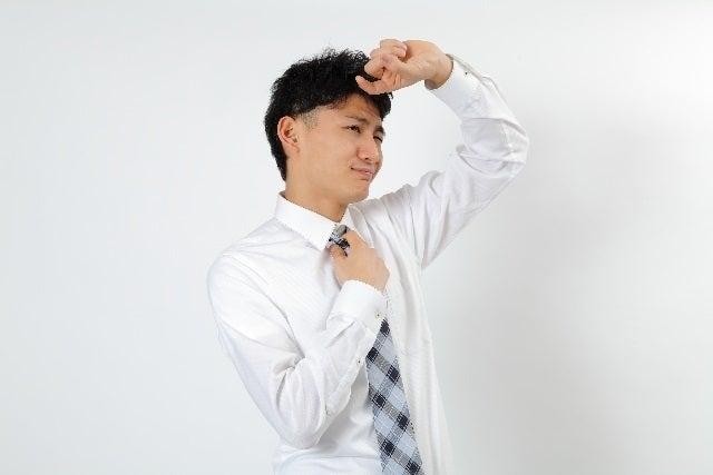 ワイシャツの黒ずみ