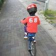 自転車朝練中
