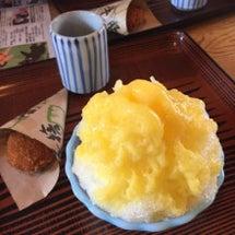 甘夏氷とコロッケ。
