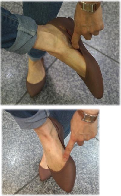 靴擦れの箇所