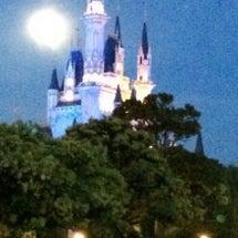 シンデレラ城と満月♡
