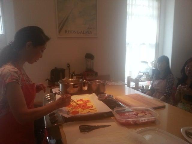 杉本佳子さんのYOSHIKOlicious Beauty Cooking Class、レポートの記事より