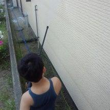 外壁洗浄。
