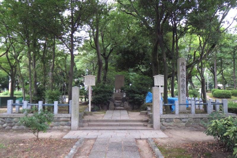 志賀城/①平手政秀城址碑