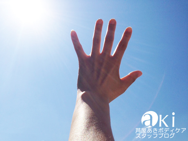 手のひらを太陽にすかして見れば...