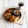 焼きそばパンの朝食プレートと爽やか〜苺バナナベリーのフルブラソーダ♪の画像