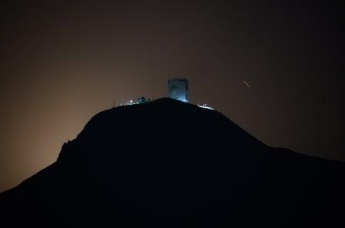 Moonrise, Moonset 釜臥山 航空自衛隊第42警戒群レーダーサイト 夜景 ...