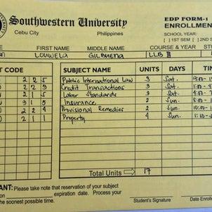 六月から新学期オープンで私が登録した授業ですの画像