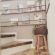 階段DIY③。壁に本…