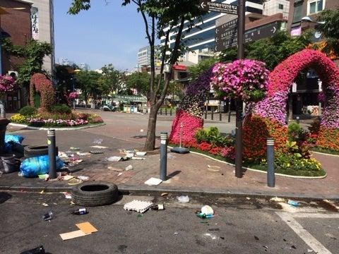 「韓国 ゴミ問題」の画像検索結果