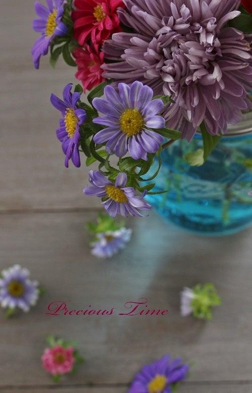 メイソンジャーに花