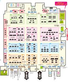 東京キャンピングカーショー2015場内MAP