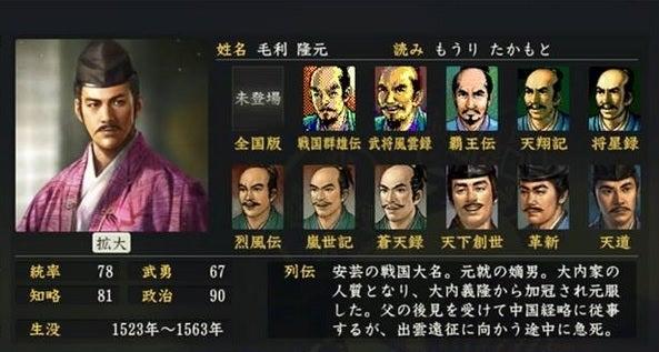 「毛利隆元」の画像検索結果