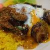 夕食☆とろぉ〜り温玉のっけ!茄子とひき肉のカレー♪の画像