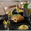 簡単ブランチ♪ちぎりサンドウィッチパン&レモンパスタ&ポテトのヴィシソワーズ&お野菜パフェの画像