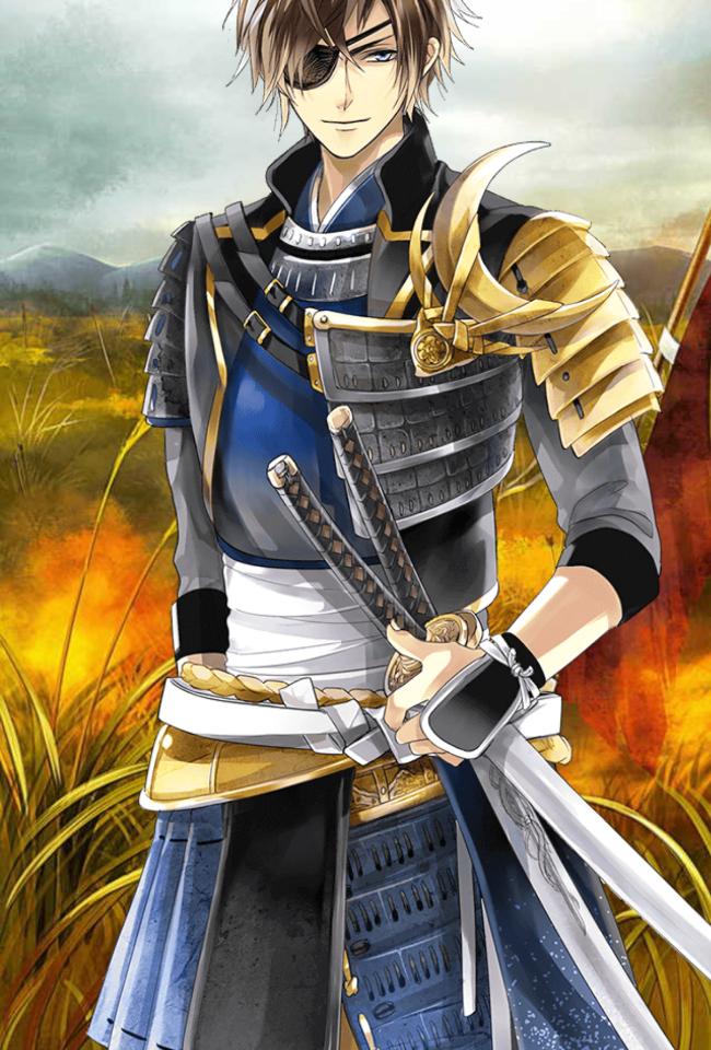 イケメン戦国 3人の武将イラスト スマホゲームや日々の事のブログ