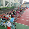 小学校の自転車安全教室にての画像