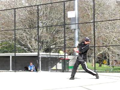 ソフトボール 右中間三塁打