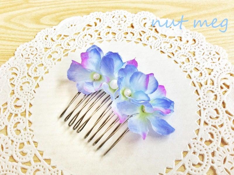 ダイソーの造花で:夏に似合う、お花のコームの作り方|レジン&ビーズのアクセサリー nut,megのブログ