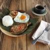 野菜たっぷりの茄子オムレツ・トルタンタロンがメインのフィリピンプレートの朝♪の画像