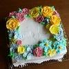 母の日【お花のケーキ】レッスン(*´▽`*)の画像
