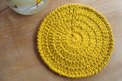 図 コースター 編み