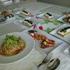 Foodコース 明太子冷製パスタ 前菜 レアチーズタルトの画像
