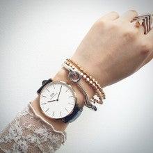 ダニエルウェリントン時計×エディボルゴ ブレスレットコーディネート