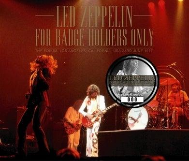 cinnamon の音楽ブログ♪ 徒然なるままに.Led Zeppelin - For Badge Holders Only (No Label)