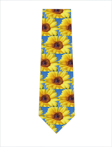 元気なひまわりいっぱいネクタイ