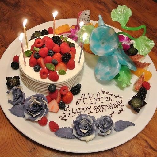 白金料庭 槐樹 杉本彩さん誕生日ケーキ