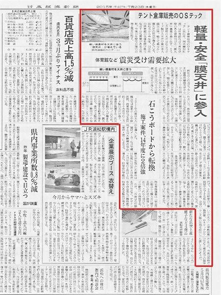 日本経済新聞に「膜天井」が掲載されました。